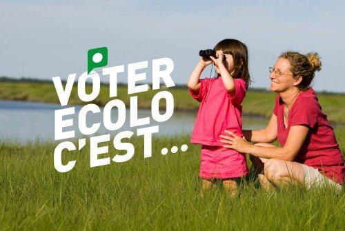 10 raisons de voter Ecolo!