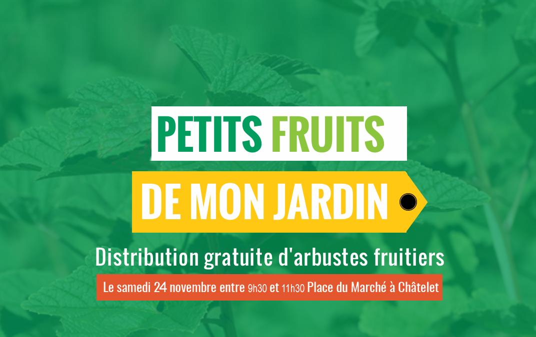 Distribution d'arbres fruitiers à Châtelet